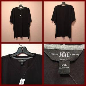 NWT. Joseph Abboud  black shirt